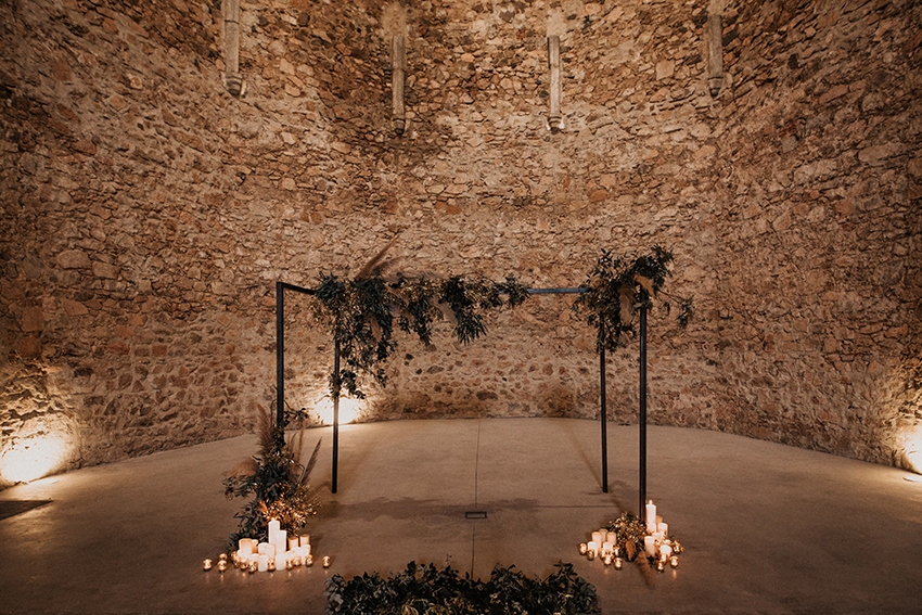 Wedding in a castle in Catalonia