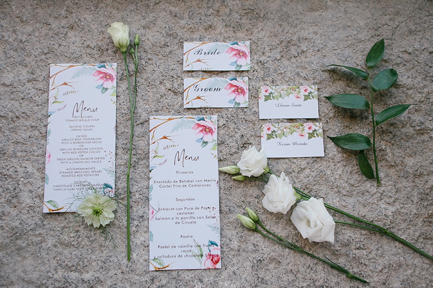 ... between elements of your wedding. Florals are a timeless design and you can have them as flamboyant or subtle as you like for your invitation.