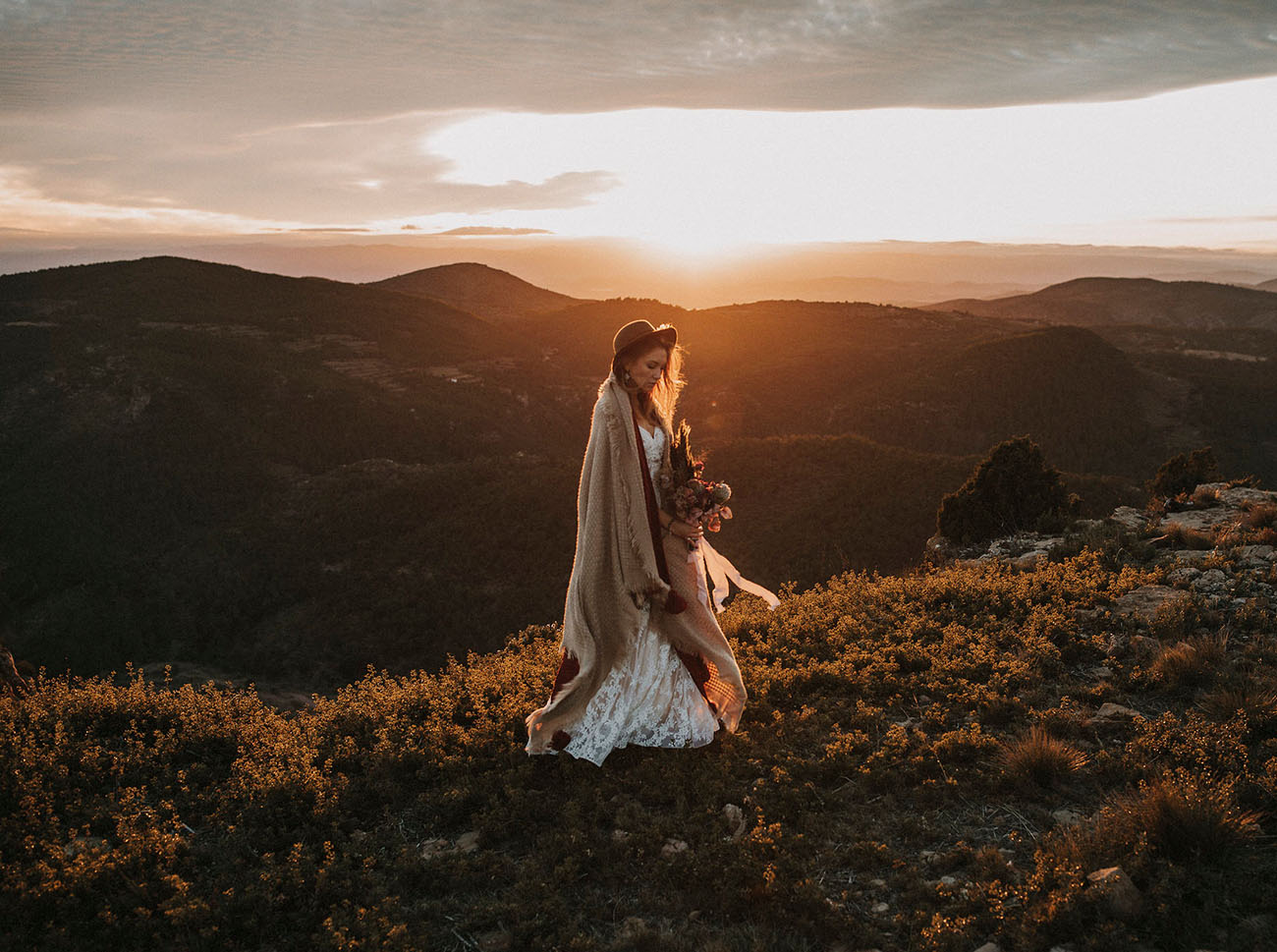 A nature lover's dream elopement in the Spanish mountains