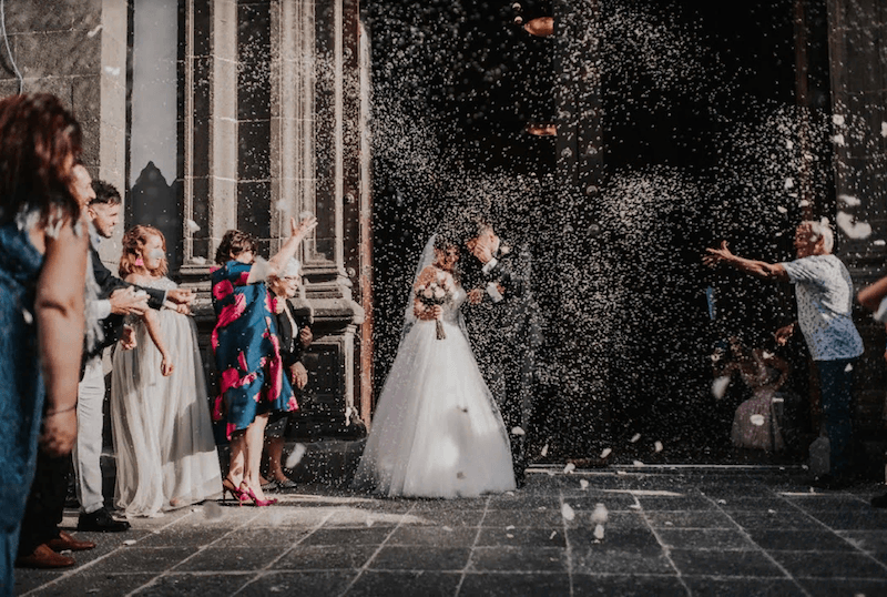 Alternatives to rice, confetti and petals for the ceremony
