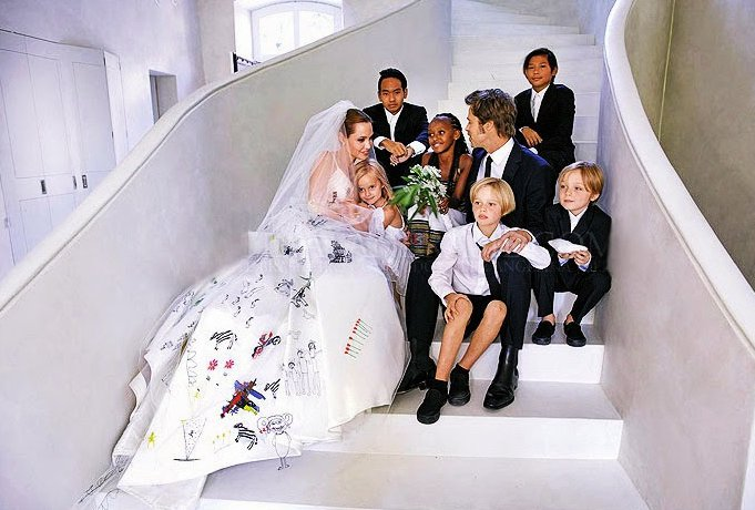 Brad-Pitt Angelina Jolie Wedding