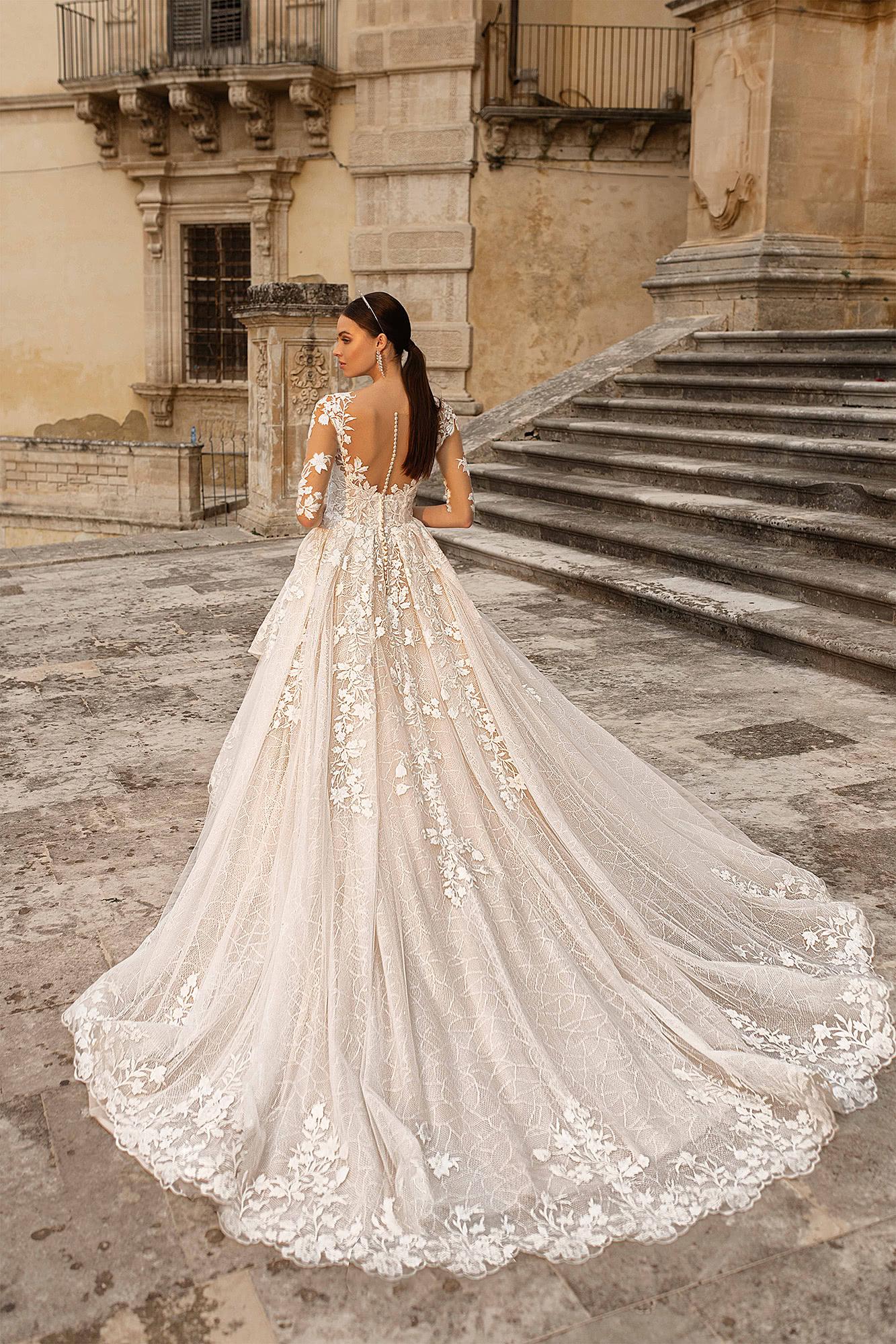 Cola real vestido de novia 2021 - Perfect Venue