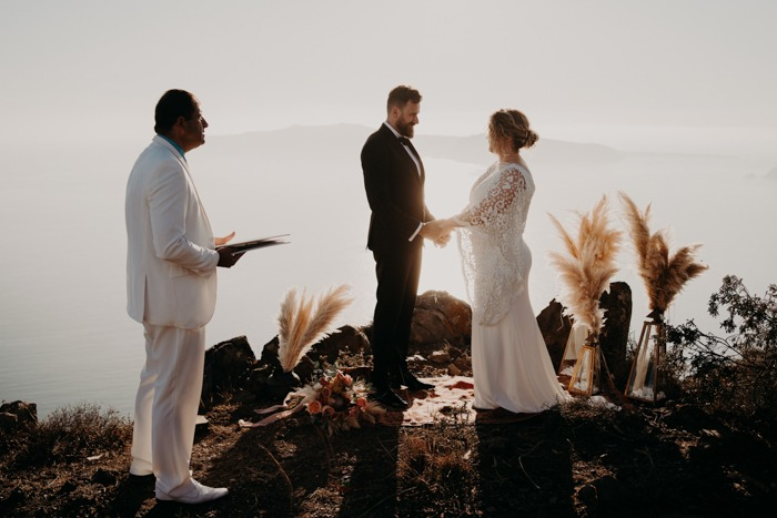 Santorini Cliffside Elopement