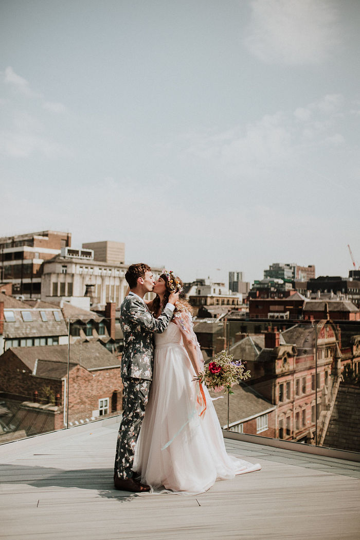 Take a Look at This Beautiful Botanical Wedding Surrounded by Flowers in Manchester, England - Perfect Venue