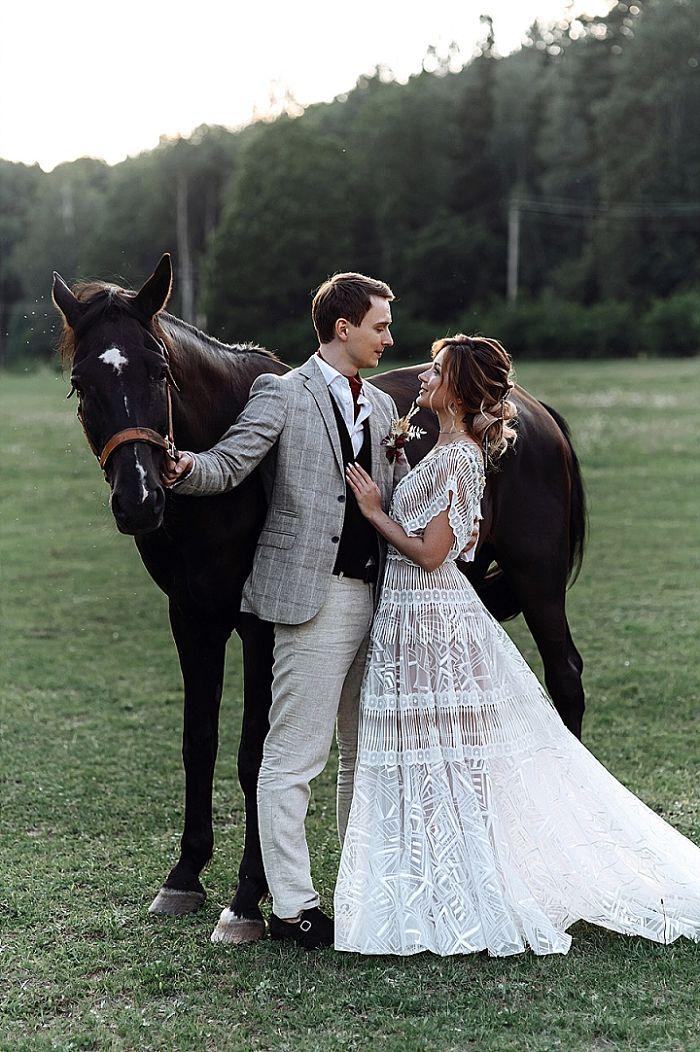Boho Wedding in Russia Surrounded by Feathers and Pampas Grass - Perfect Venue