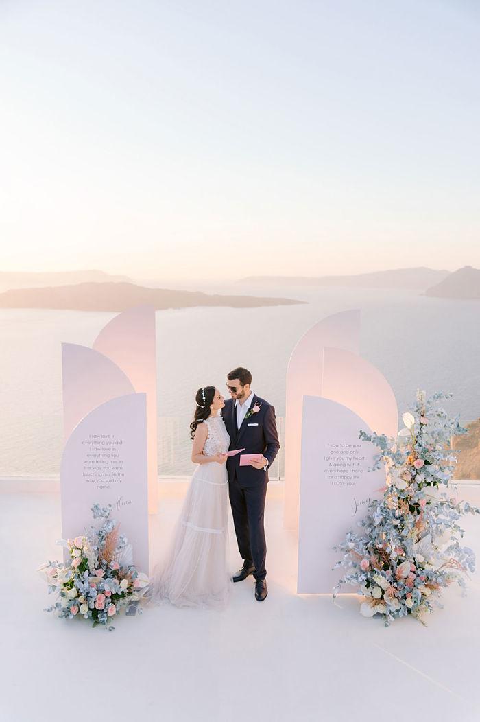 Island Elopement on the Breath-taking Cliffs of Santorini - Perfect Venue