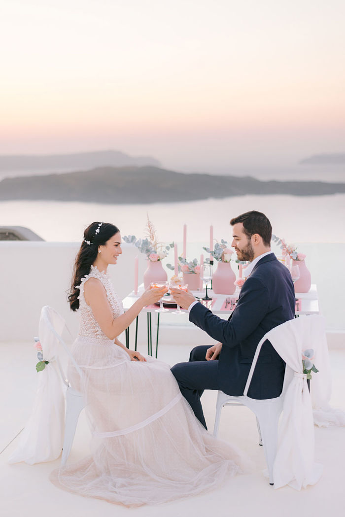 Island Elopement on the Breath-taking Cliffs of Santorini - Perfect Venue