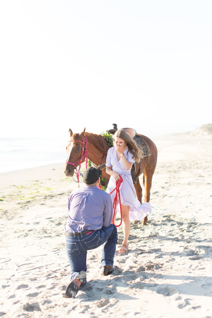 Horse Riding on the Beach at Dusk: A Romantic Proposal in California - Perfect Venue
